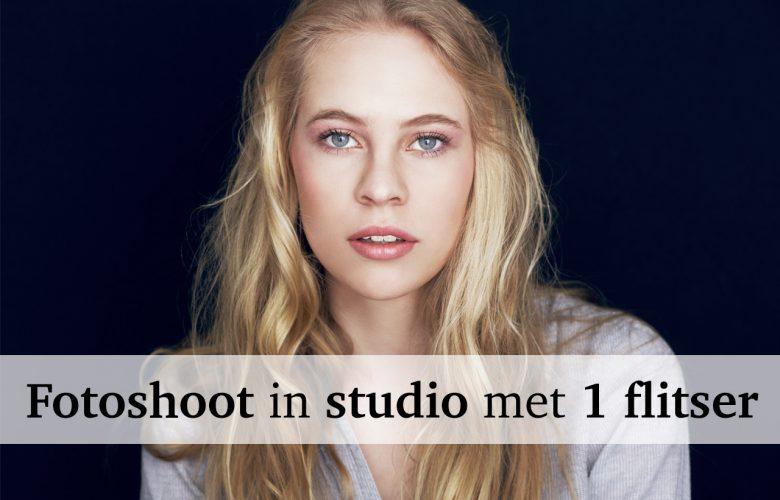 Fotograferen in de studio met 1 flitser - Backstage bij een fotoshoot