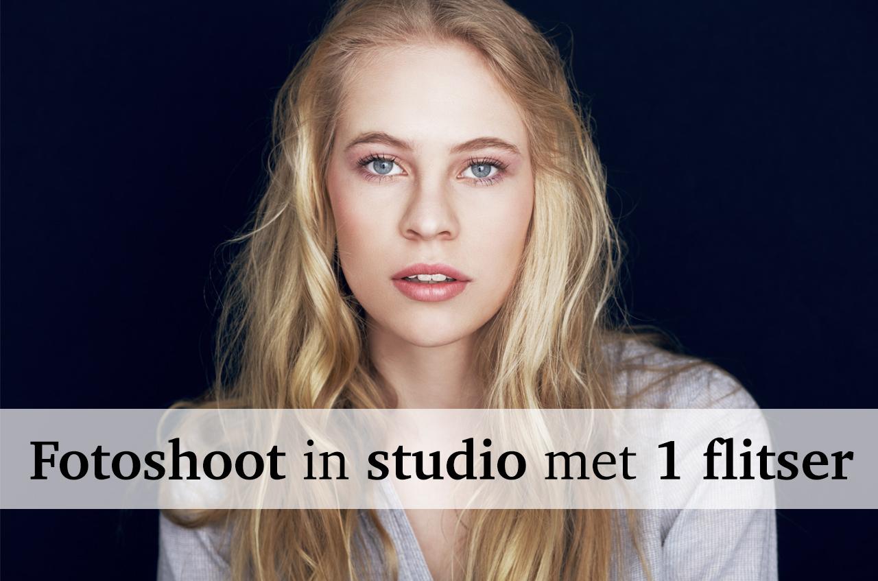 Fotograferen in de studio met 1 flitser – Backstage bij een fotoshoot