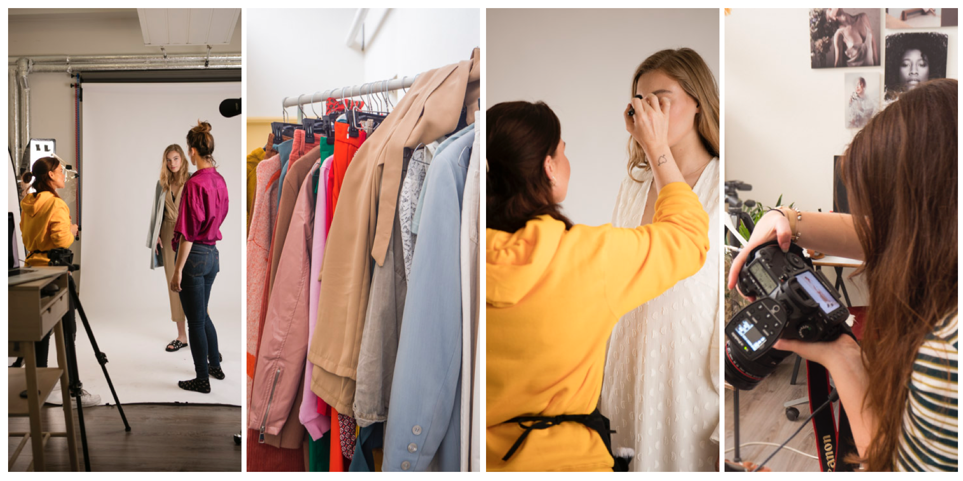 Backstage – Fashion editorial studio fotoshoot